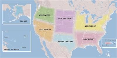 CSC Regions Map