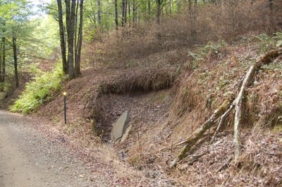 Dirt & Gravel Road, Streambank Stabilization Project on Cross Fork, Pennsylvania
