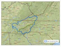 Upper Tennessee River Basin Boundary