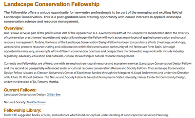 Information on the AppLCC Fellowships