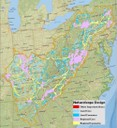 Map shows integration of key aquatic connectivity areas with terrestrial significant habitats throughout the Appalachians to guide conservation planning and decision making.