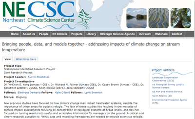Bringing people, data, and models together - addressing impacts of climate change on stream temperature