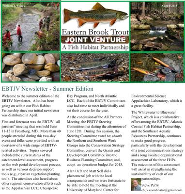EBTJV Newsletter Image