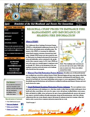 Oak Fire & Woodlands Newsletter Image