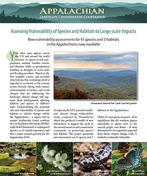 Fact Sheet: Assessing Vulnerability of Species and Habitats to Large-scale Impacts
