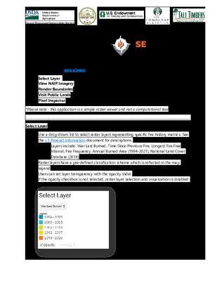 SE FireMap Version 1.0 BETA User Guide