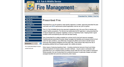 U.S. Fish & Wildlife Service Fire Management
