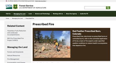 USDA Forest Service Prescribed Fire