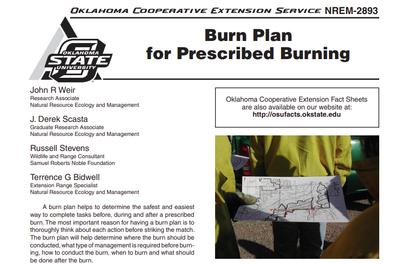 Oklahoma Burn Plan for Prescribed Burning