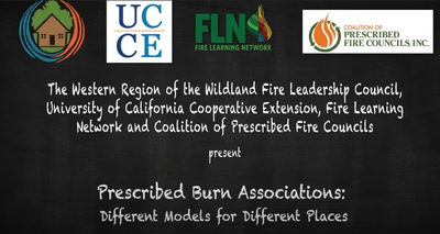 Prescribed Burn Associations: Different Models for Different Places