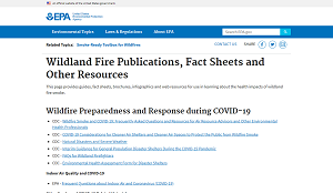 EPA Wildland Fire Publications, Fact Sheets and Other Resources