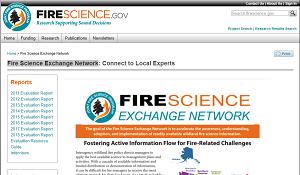 Joint Fire Science Program Fire Science Exchange Network
