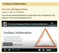 Fire and a Changing Climate - Fueling Collaboration