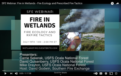 Fire in Wetlands: Fire Ecology and Prescribed Fire Tactics