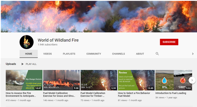 World of Wildland Fire YouTube Channel