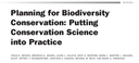 Planning for Biodiversity Conservation: Putting Conservation Science into Practice