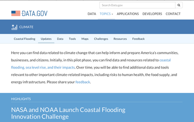 White House Climate Data Initiative