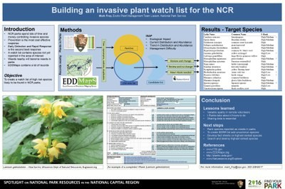 Building an Invasive Plant Watch List for the NCR