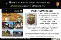 A Golden Anniversary in a Diamond Year. This poster will highlight efforts within  the National Park Service to commemorate the 50th Anniversary of the National Historic Preservation Act of 1966. Started as a group project for the Park Service's 2015 class of the Generating Operational Advancement and Leadership Academy,  our project team assembled of professionals from across  the park system is working to develop a resource toolkit to aid regions, individual park units, and park staff in commemorating the act and educating the general  public. The toolkit will consist of a discussion guide, a social media plan (#NHPA50) and a junior ranger program.