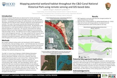 Mapping Potential Wetland Habitat Throughout the C&O Canal National Historical Park using Remote Sensing and GIS-based Data