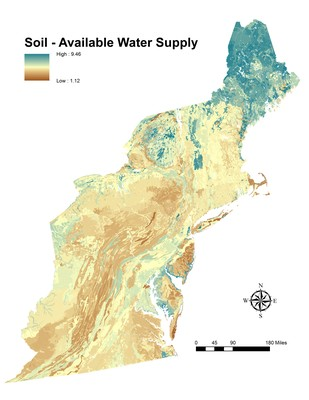 Soil, Available Water Supply, Northeast