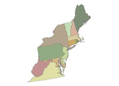 State Boundaries, Northeast