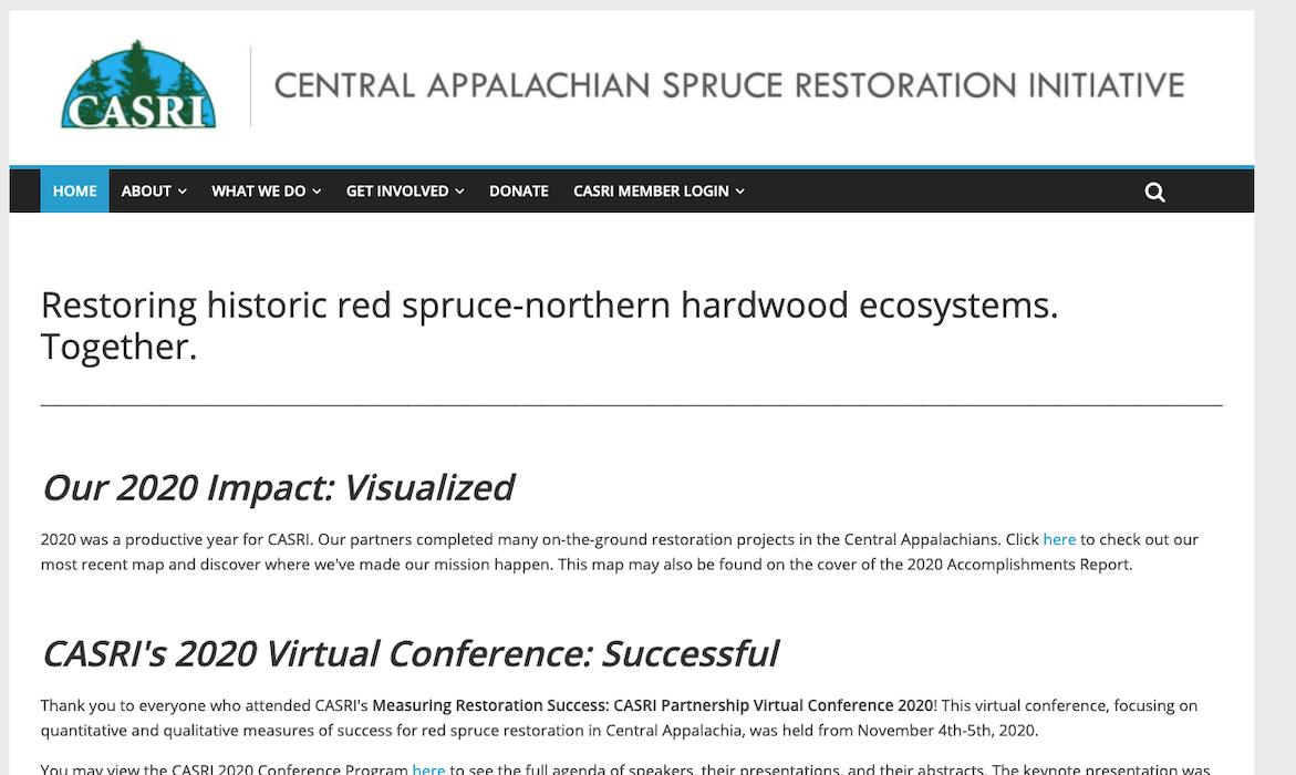 Central Appalachian Spruce Restoration Initiative (CASRI)
