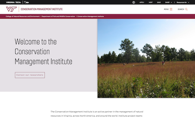 Conservation Management Institute of Virginia Tech