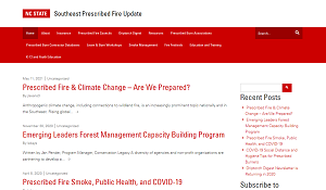 NC State Southeast Prescribed Fire Update