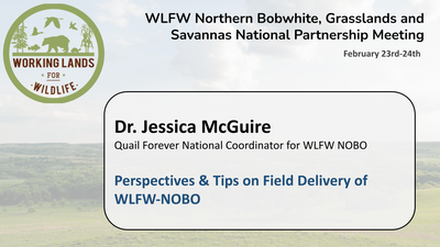 Perspectives & Tips on Field Delivery of WLFW-NOBO: Dr. Jessica McGuire