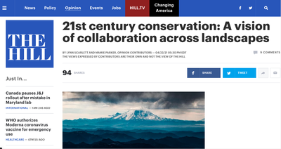 21st century conservation: A vision of collaboration across landscapes