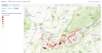A Conservation Action Map for the TRB Network