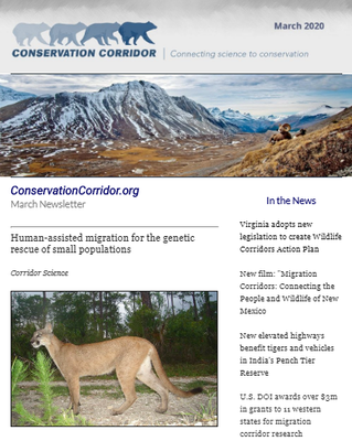 Conservation Corridor March 2020 Newsletter