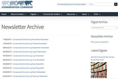 Conservation Corridor Newsletters