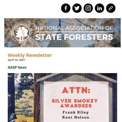 National Association of State Foresters Weekly Newsletter April 16 2021