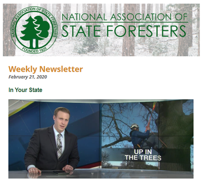 National Association of State Foresters Weekly Newsletter February 21 2020