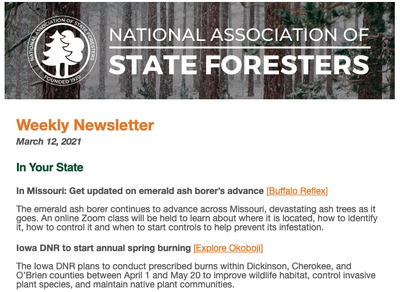 National Association of State Foresters Weekly Newsletter March 12 2021