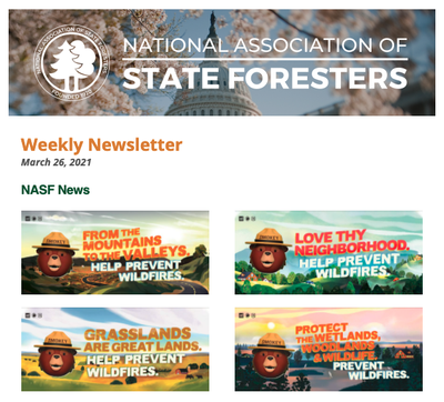 National Association of State Foresters Weekly Newsletter March 26 2021