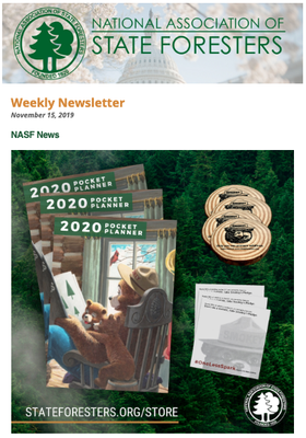 National Association of State Foresters Weekly Newsletter November 15, 2019