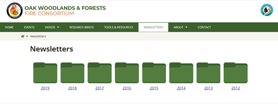 Oak Woodlands & Forest Fire Consortium Newsletter