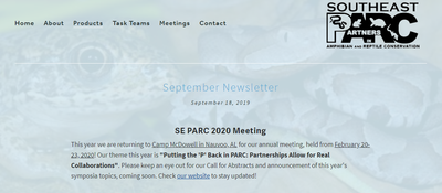 Southeast Partners in Amphibian and Reptile Conservation Newsletter