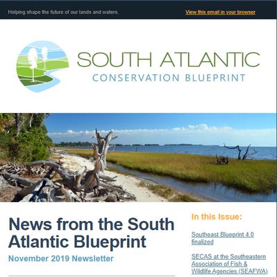News from the South Atlantic Blueprint-November 2019 Newsletter
