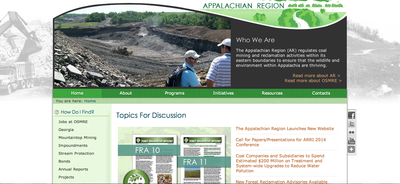 OSMRE Appalachian Region Launches New Website