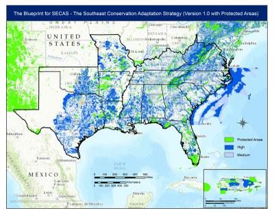 SECAS Version 1.0 Provides Regional Long-term Vision for Conservation