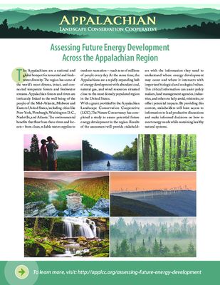 Assessing Future Energy Development Across the Appalachian Region