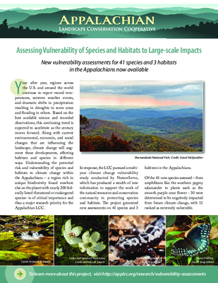 Assessing Vulnerability of Species and Habitats to Large-scale Impacts
