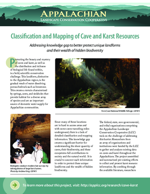 Classifi cation and Mapping of Cave and Karst Resources
