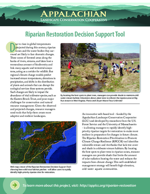 Riparian Restoration Decision Support Tool