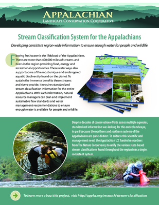 Stream Classification System for the Appalachians