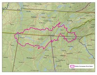 Middle Tennessee River Basin Boundary